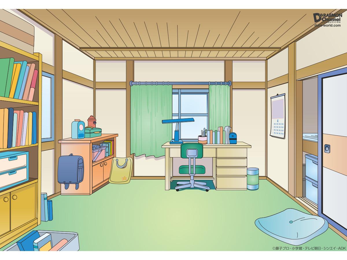 ドラえもん のび太の部屋があなたの背景に Web会議などで使用できる壁紙の無料ダウンロード開始 アニメ アニメ