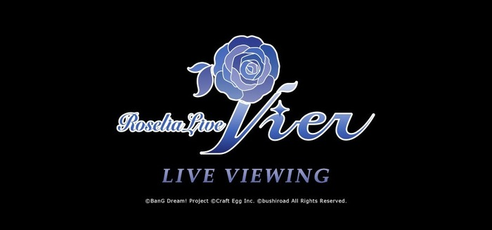 Roselia Live 「Vier」LIVE VIEWING(C)BanG Dream! Project (C)Craft Egg Inc. (C)bushiroad All Rights Reserved.