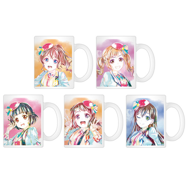 「Ani-Artマグカップ2020ver.(全25種)」各1,500円(税別)(C)BanG Dream! Project(C)Craft Egg Inc.(C)bushiroad All Rights Reserved.