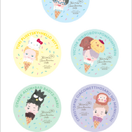 「Yuri on Ice×Sanrio characters Cafe 2020」ドリンク注文特典(C)はせつ町民会/ユーリ!!! on ICE 製作委員会(C)1976,1989,1992,1993,1996,1998,2020 SANRIO CO.,LTD. APPROVAL NO.610406